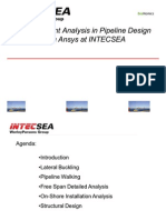 Finite Element Analysis in Pipeline Design using ANSYS at INTECSEA