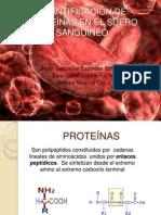 EXPOSICION No 5. Proteínas del suero sanguíneo