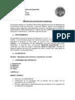 Proyecto Especial s. s. 2013 Agragados