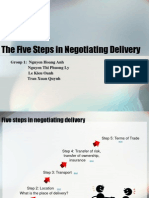 The Five Steps in Negotiating Delivery