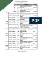 Jadual Peperiksaan SPM 2013