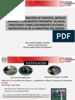 Proyecto UNAM Proceso de remoción de fosfatos, metales pesados y colorantes presentes en agua empleando como adsorbentes escorias metalúrgicas de la industria del hierro