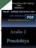 Ponolohiya SMA 1