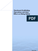 IMCA D 007, Apr 96 _ Overboard Scaffolding Operations and Their Effect on Diving Safety