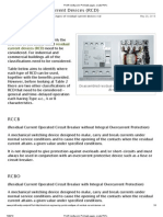 Types of Residual Current Devices (RCD)