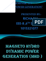 MHD power generation