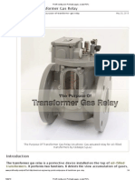 The Purpose of Transformer Gas Relay