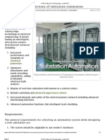 Requirements and Functions of Substation Automation