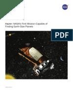 Kepler Satellite History