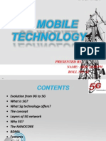 5G technology seminar presentation