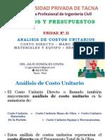 Costos y Presupuestos de Obra - UPT ( Tacna )