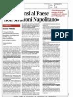 Il Pdl pensi al paese, non strattoni Napolitano