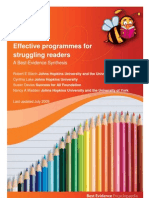Struggling Readers Educator Summary
