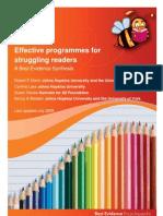 Struggling Readers Educator Summary