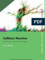 25086304 Callaica Nomina Estudios de Onomastica Gallega Juan J Moralejo