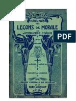 Morale (scan 02) Résumés des Leçons de Morale CM-CM2-CS Poiré-Choquet