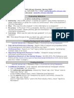 Rhetoric 306 Research Guide