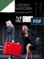 programación cultural de Andorra (Teruel) desde agosto a diciembre de 2013.