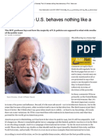 Chomsky, Noam - The US Behaves Nothing Like a Democracy