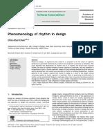 Phenomenology of Rhythm in Design