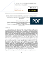 Development and Sensitivity Analysis of Water Quality Index for Evaluation Of