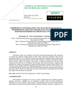 Experimental Investigation and Analysis of Mechanical Properties of Injection