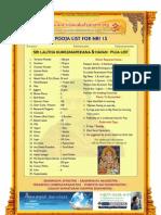 lalitha kumkumarchana and homam puja list for nri