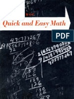 Isaac Asimov - Quick and Easy Math - B0000CN8BV