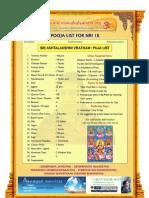 ashtalakshmi vratham puja list for nri