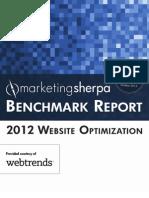 2012 Website Optimization Benchmark Report-Webtrends