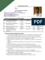 Dr. Punit Kumar Dwivedi CV-Aug-2013