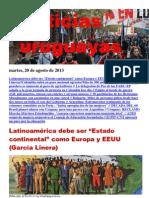 Noticias Uruguayas Martes 20 de Agosto Del 2013