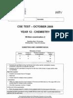 [Chemistry] 2008 CSE Unit 4 Exam