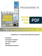 Prog 25 Second-Order Differential Equations