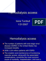 Hemodialysis Access - ITurnbull