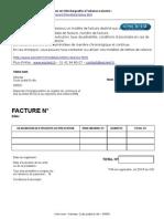 Facture Auto Entrepreneur - Modèle gratuit
