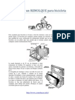 Como hacer un REMOLQUE para bicicleta