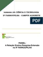 Semana Ciência e Tecnologia - Campus Alegrete
