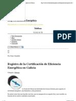 Registro de la Certificación de Eficiencia Energética en Galicia | Blog Certificación Energética