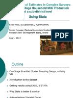 Standard Error of Estimates in Complex Surveys Using Stata