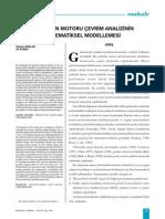 Bir Benzin Motoru Çevrim Analizinin Matematiksel Modellemesi