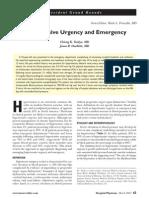 Hypertension Urgency and Emergency