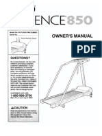 Weslo Cadence 859 Treadmill Manual