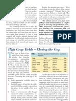 2000. High Crop Yields - Closing the Gap