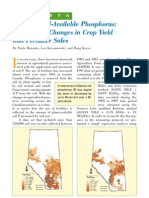 2000. Mapping Soil-Available Phosphorus - Considering Changes in Crop Yield and Fertilizer Sales