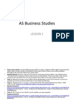 As Business Studies