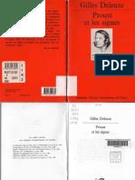 Gilles Deleuze Proust Et Les Signes 2003
