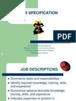 Job Specification