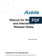 Wizcon for Windows and Internet 8.2 Release Notes