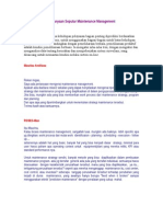 Pertanyaan Seputar Maintenance Management